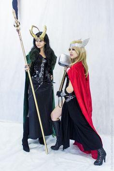 Lady Loki, Lady Thor 3 by ~Gabardin on deviantART