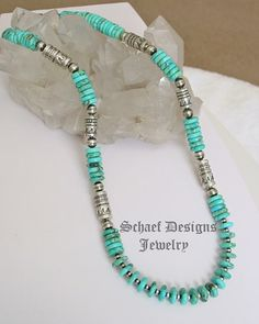 Carico Lake, Sterling Silver Tube beads & Navajo Pearl 30 inch necklace | Southwestern Basics Collection