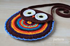 Crochet Owl Purse Pattern - I think I just might have to bite the bullet and make this.  She kinda gave me permission...  :D
