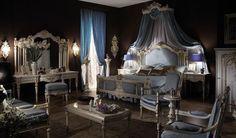 Chambre à coucher Royale Blanc cassé-Gris