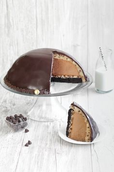 Chocolate Mousse Cookie Dough Bombe