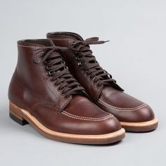Indy Boots in Brown Chromexcel from Alden. Goodyear welted construction. Tempered steel shank. Made in USA.