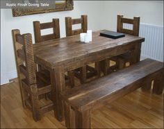 reclaimed wood dining table - Google Search