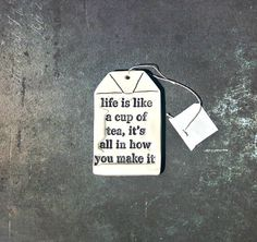 Inspirational Gift Tag made of Ceramic by TheBabyHandprintCo