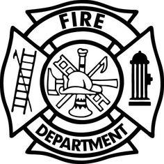 Firefighter Fireman Vinyl Decal Car Window Wall Door Laptop Any Size Firefighter Symbol, Firefighter Gifts, Volunteer Firefighter, Firefighter Decals, Firefighter Birthday, Vinyl Crafts, Vinyl Projects, Cnc Projects, Fire Dept