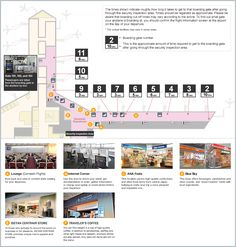 Domestic Boarding Gates Map | Central Japan International Airport