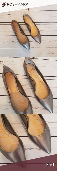 New in Box! Sam Edelman Silver Pointed Flats Brand new never worn! New in box! Size 6 from Sam Edelman. Silver colored pointed toe flats. Sam Edelman Shoes Flats & Loafers