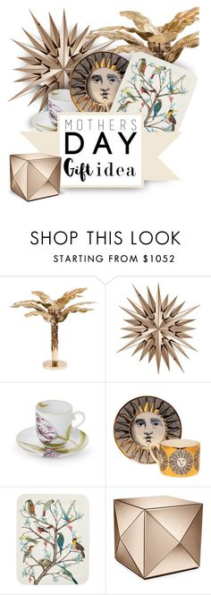 """""""MDG"""" by defivirda ❤ liked on Polyvore featuring interior, interiors, interior design, home, home decor, interior decorating, Asprey, Fornasetti, mothersdaygiftguide and MothersDayBrunch"""