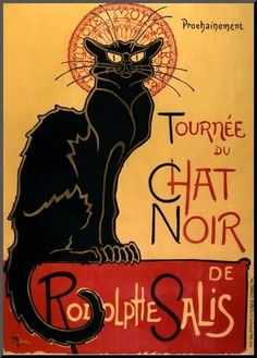Mounted Print: Tournée du Chat Noir, c.1896 by Théophile Alexandre Steinlen : 28x20in