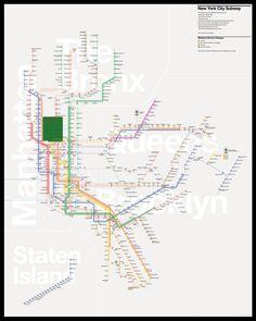 New york city map manhattan street map vintage blueprint cool the new york city subway map redesigned malvernweather Gallery