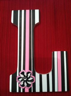 Painted Wooden Letter L