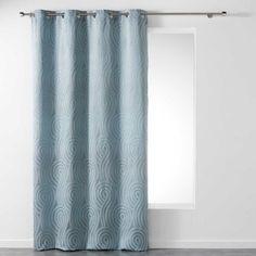 Sötétítő függöny csiga mintával, kék, 260x140 cm - PRAIRIE