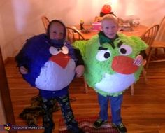 Angry Birds Twin Boys - Halloween Costume Contest via @costumeworks