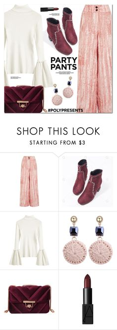 """#PolyPresents: Fancy Pants"" by oshint ❤ liked on Polyvore featuring Rejina Pyo"