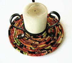 AUTUMN Clothesline Trivet - Coiled Fabric Trivet - Plant Coaster - Hot Pad - Mug Rug - Table Rug - Candle Mat - Autumn Fall Decor by Jambearies on Etsy