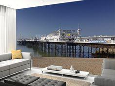 Brighton Pier wall mural room setting