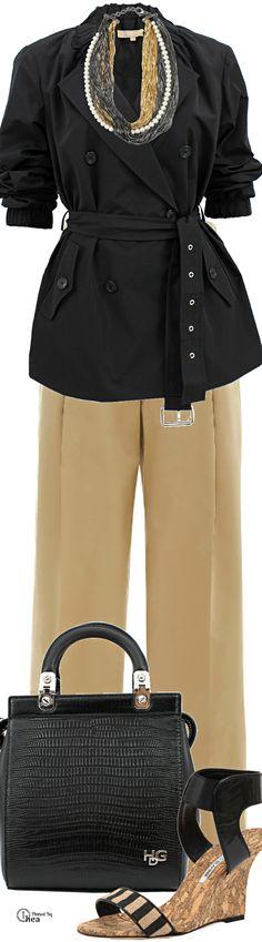 Valentino Trousers ● Michael Kors Jacket ● Givenchy Bag ● Manolo Blahnik Cork Wedge ● Iosselliani Necklace