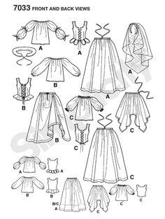 Historisches Kleid für die Magd