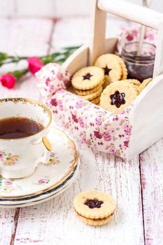 Tea and delicious cookies