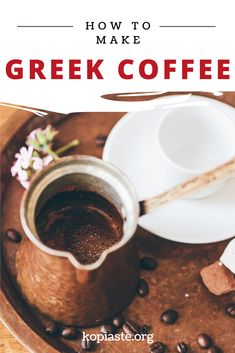 Greek coffee is one of the healthiest coffees in the world. It is well brewed with a frothy cream top. Learn all about Greek coffee and how to make it yourself. Vegan Gluten Free, Vegan Vegetarian, Greek Recipes, Coffee Drinks, Brewing, Beverages, Make It Yourself, Cooking, Healthy