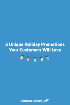 Create an irresistible holiday promotion and get the word out with a professional holiday email template. Need some inspiration for your holiday promotion? Here are five ideas from successful small business owners: