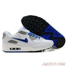 check out 5dbc1 7bfc4 Air Max 90 de Course Pour Homme Bleu  Blanc Chaussures Air Max Homme  Chaussure Basket