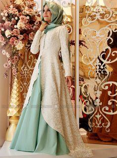 Orchid Evening Dress - Mint - Gamze Polat