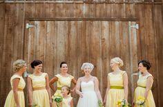 Darling yellow maids dresses