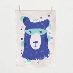Tea Towel, Boris II, hand silk screened | Laikonik