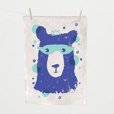 Tea Towel, Boris II, hand silk screened | Laikonik
