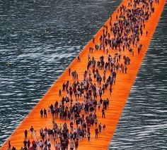 Christo and his late partner, Jean Claude's latest massive public art installation, The Floating Piers, opened just three days ago on Lake Iseo in Italy, but it's fast becoming a viral Internet and Instagram sensation.