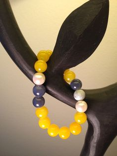 Malaysia jade amber and grey beads bracelet with pearl and by by2y, $15.00