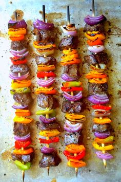 Steak fajita skewers
