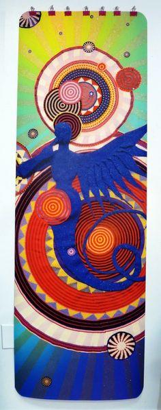 Urban Paradise #crochet #yoga mat by #artist Xenobia Bailey