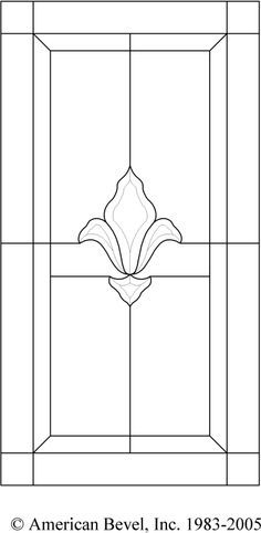 American Bevel - Stained glass, bevel glass clusters, stained glass software, bevel glass Pattern AB100-140