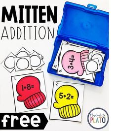 I'm excited to try this addition game in my kindergarten classroom! It would be a great math center for first grade too. #mathforkids #mathmadecool #mathcenter