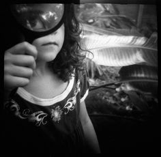 magnify yourself #diana #holga #toycamera Wet Plate Collodion, Toy Camera, Holga, Magnifying Glass, Black And White, Portrait, Photography, Beauty, Diana