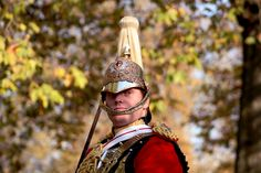 Portrait of a Soldier on Remembrance Day parade, Hyde Park, London.