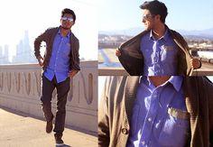 blue-cream combo // men's fashion style