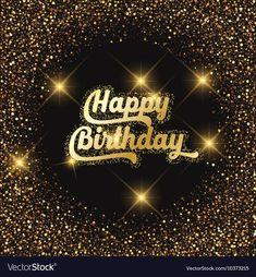 Happy birthday glitter background 2907 Royalty Free Vector