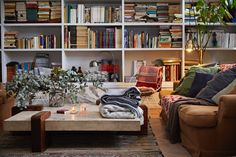 Klippan throws and blankets from the A/W collection will be at Northlight in mid November 2015 Bookshelves, Bookcase, Textiles, Hygge, Sweet Home, Style Inspiration, Living Room, Table, Fashion Design