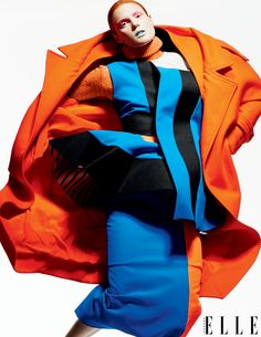 """""""FLASH DANCE"""" Crayola brights shock in an unexpected mix of high-voltage hues. ELLE Canada September 2014 Issue. Styled by Juliana Schiavinatto  Photographs by  Moo  Art direction by Denis Desro."""