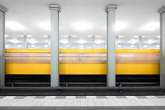 Places and moments with uncanny minimalism captured by Kevin Krautgartner. Kevin Krautgartner is an award-winning fine art, architecture, and landscape Abstract Photography, Color Photography, Photography Photos, Berlin, Abstract Canvas Wall Art, U Bahn, Arts Award, Minimalist Photography, Minimalist Home Decor