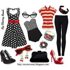 Love everything on here!! Gimmee my signature red lipstick and red nailpolish....and I would make this work!