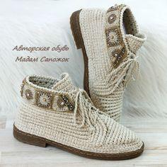 f206ef3d23fc Обувь ручной работы. Ярмарка Мастеров - ручная работа. Купить Ботинки  льняные с вышивкой женские. Handmade. Бежевый, обувь летняя