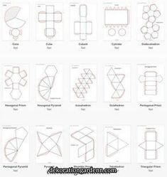 Best 12 Diy Crafts – Craft Tips and Accessories – Page 534380312037287158 – SkillOfKing. 3d Shapes, Geometric Shapes, Paper Toys, Paper Crafts, Diy Crafts, Nirmana 3d, Theme Design, Geometry Activities, Origami Paper Art