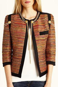 La Condesa jacket military inspired.  Modelo Quetzal.  www.lacondesa.es