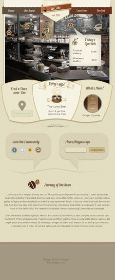 Coffee Shop Homepage #Webdesign #Template $5