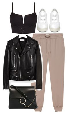 """Untitled #10059"" by nikka-phillips ❤ liked on Polyvore featuring Off-White, Yves Saint Laurent and Chloé"