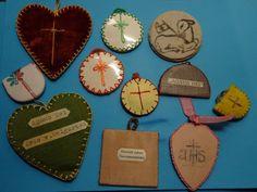 10 antique AGNUS DEI // NUNS hand craft WORK // monastery AGNUS DEI